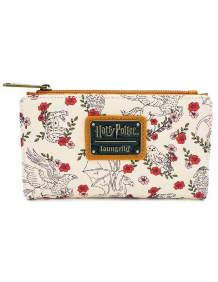 Portefeuilles Loungefly Harry Potter Creatures Floral Flap