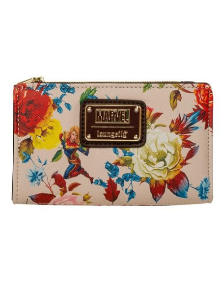 Portefeuille Loungefly Avengers Captain Marvel Floral