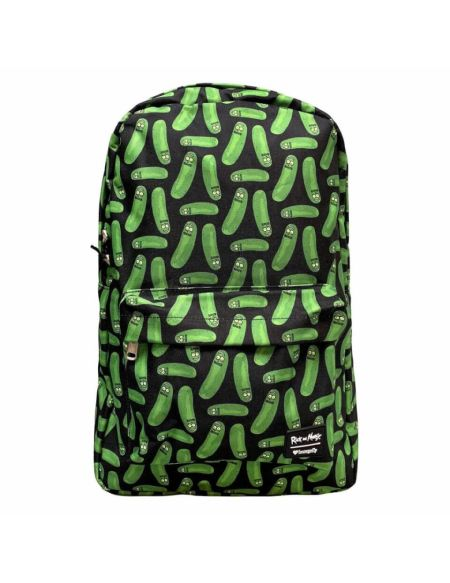 Loungefly Rick and Morty Pickle Rick AOP Nylon Backpack