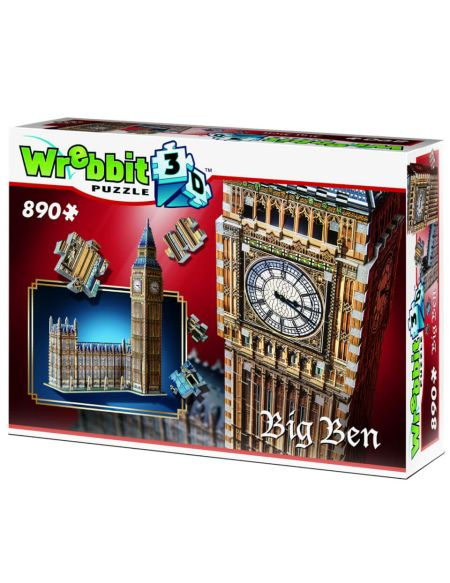 Wrebbit Big Ben and Parliament 3D Puzzle (890 Pieces)