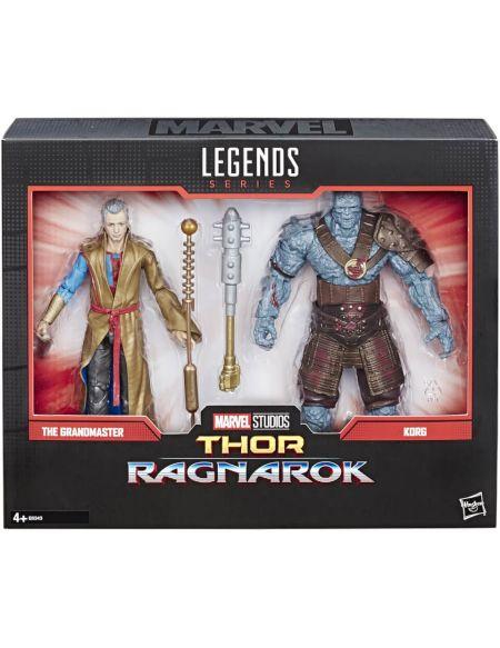Marvel Legends Thor: Ragnarok - Coffret de 2 figurines collection 15 cm Grandmaster et Korg