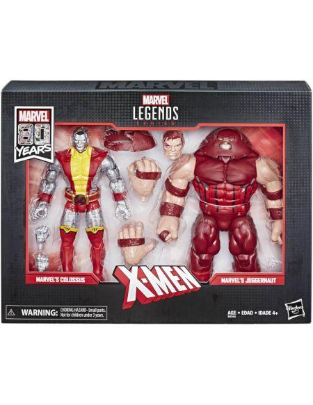 Marvel Comics 80 ans Legends Series - Coffret 2 figurines 15 cm Colossus et Juggernaut