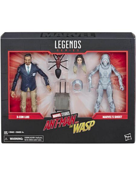 Marvel Legends Series Ant-Man et la Guêpe - Coffret 2 figurines X-Con Luis et Marvel's Ghost