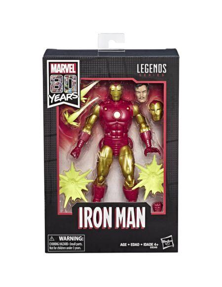 Marvel Comics 80e anniversaire Legends Series - Figurine articulée Iron Man 15 cm