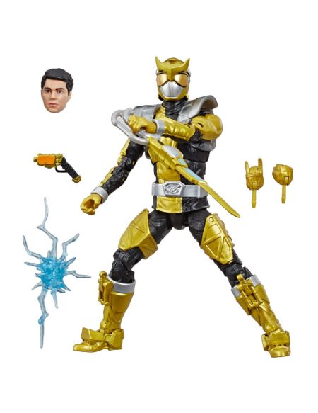 Power Rangers Lightning Collection - Figurine Ranger doré Beast Morphers