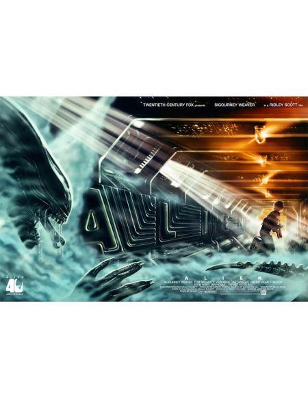 Poster Fine Art Giclée - Alien '40ème Anniversaire'