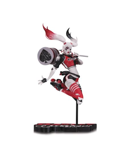 Harley Quinn Red White & Black Statue By Babs Tarr