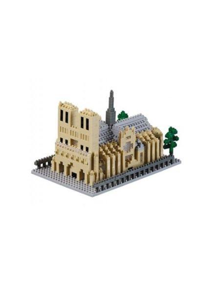 Puzzle 928 Pièces : Nano Puzzle 3D - Cathédrale Notre Dame de Paris (Level 5), Brixies