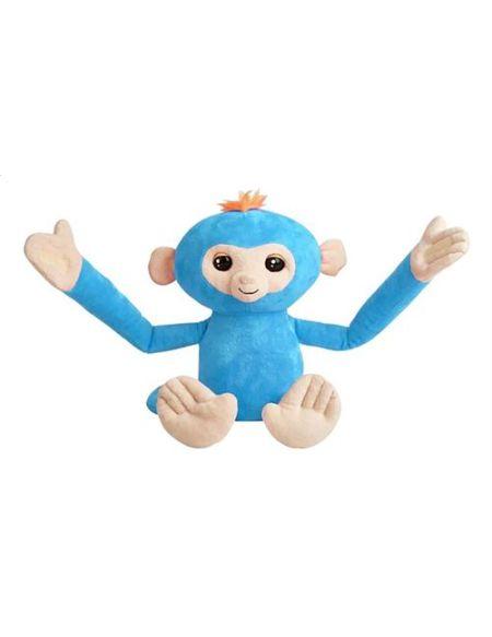 Peluche interactive Evolution Fingerlings Hugs bleu