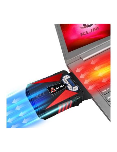 Refroidisseur Klim Cool Rouge pour ordinateur portable Gaming