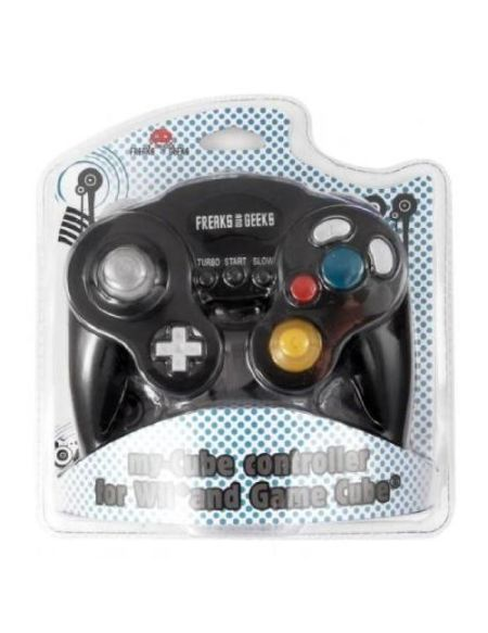 Manette Nintendo Wii et Game Cube filaire Freaks And Geeks my-Cube Noir