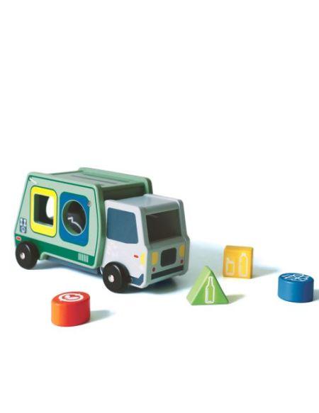 Boîte à formes Camion de poubelle Zéro déchet