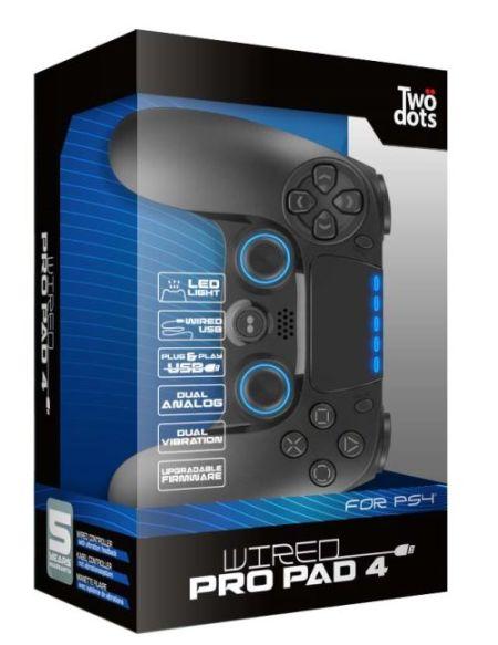 Manette PS4 filaire Two Dots Pro Pad 4 Noir avec Touch Pad