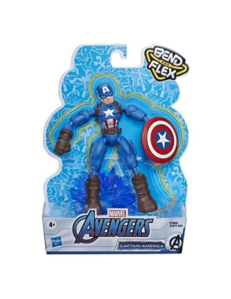 Figurine Marvel Avengers Captain America Bend and Flex 15 cm