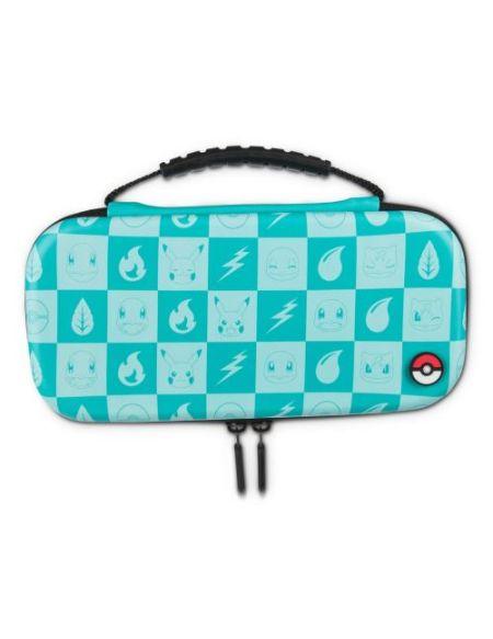 Etui de protection Turquoise PowerA pour Nintendo Switch Lite Damier Pokémon