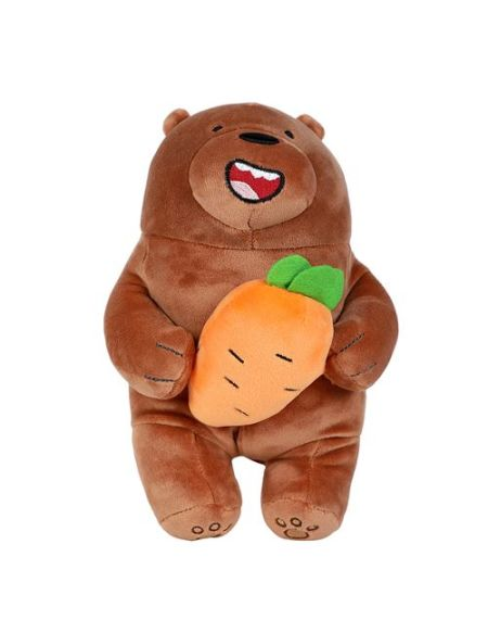 Peluche Miniso We Bare Bears Grizzly et sa carotte