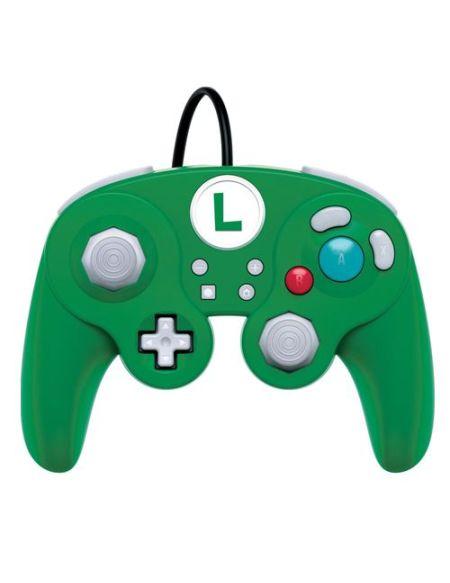 Manette Nintendo Switch filaire PDP Smash Pad Pro Luigi Edition