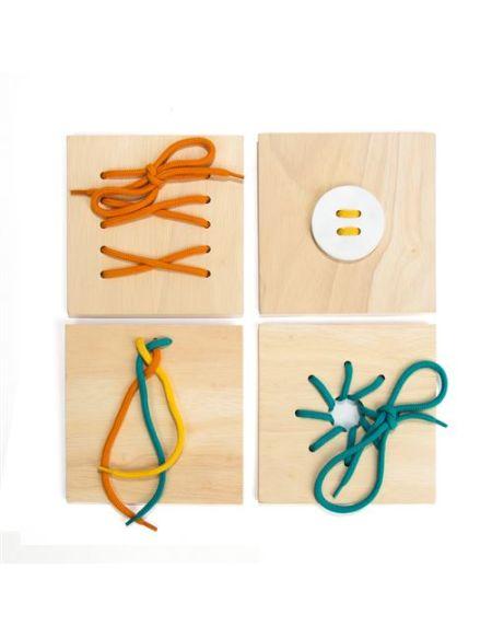 Kit créatif Nature et Découvertes Boîte de laçages Montessori