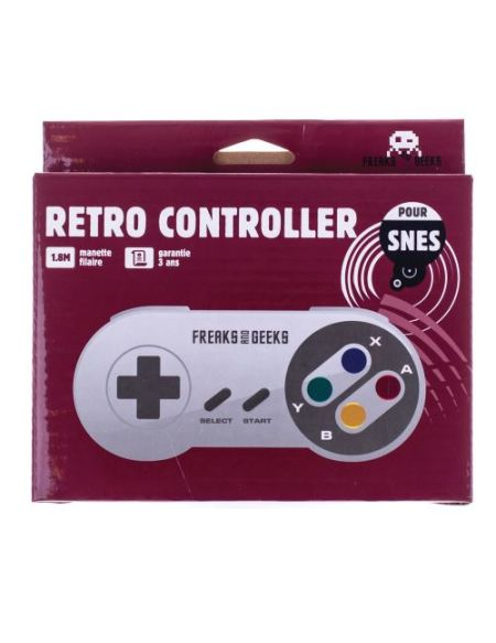 Manette Nintendo SNES filaire Freaks And Geeks Blanc