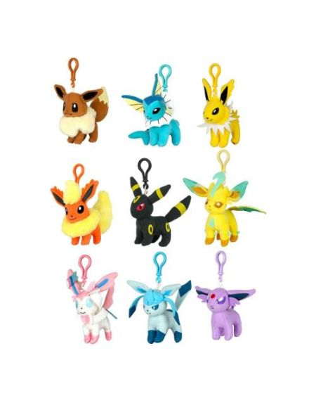 Porte-clés peluche Clip' N Plush Pokémon