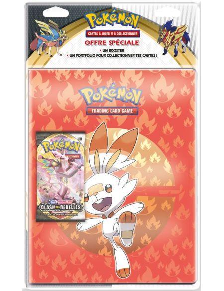Pack cahier range-cartes et booster Pokémon Épée et Bouclier 2