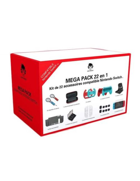 Méga Pack 22 en 1 Geek Monkeys compatible Nintendo Switch