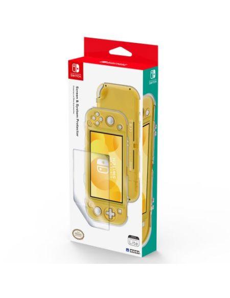 Coque de protection Transparente Hori + Protection d'écran pour Nintendo Switch Lite