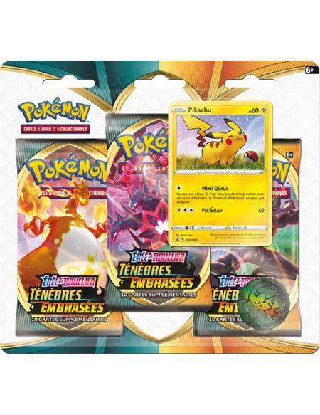 Pack 3 boosters Pokémon Epée et Bouclier Ténèbres embrassés Modèle aléatoire