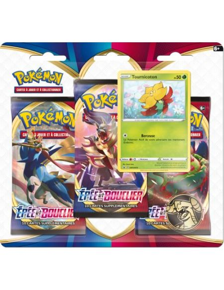 Pack 3 booster Pokémon Février 2020 Modèle aléatoire