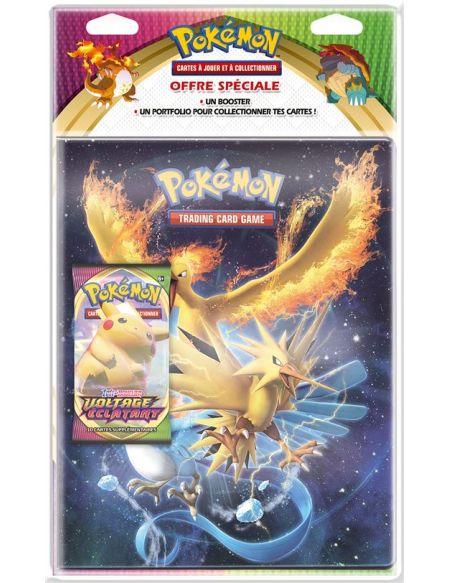 Pack cahier range cartes et Booster Epée et Bouclier 4 Pokémon Modèle aléatoire