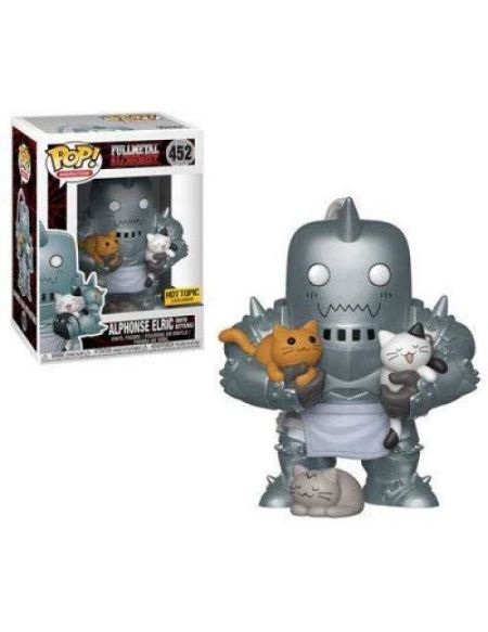 Petite figurine Funko Pop Fullmetal Alchemist Alphonse Elric avec Kittens