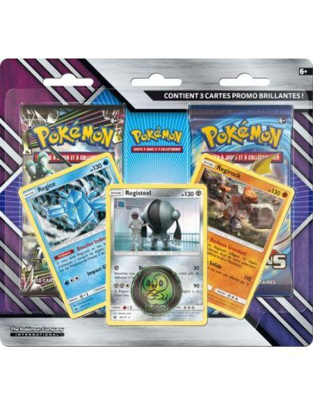 Pack de 2 boosters Pokémon Soleil et Lune 7 avec 3 cartes promo