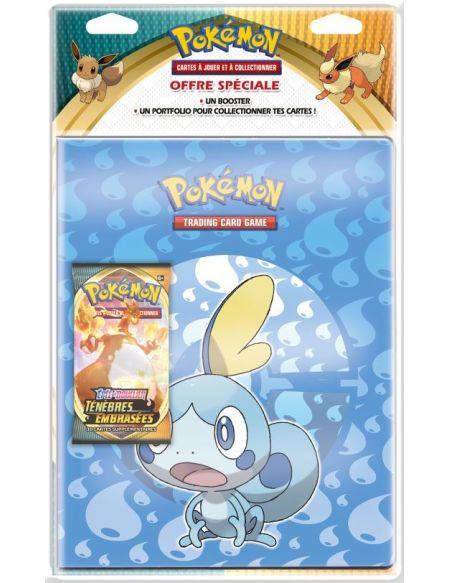 Pack cahier range-cartes et booster Pokémon Épée et Bouclier 3