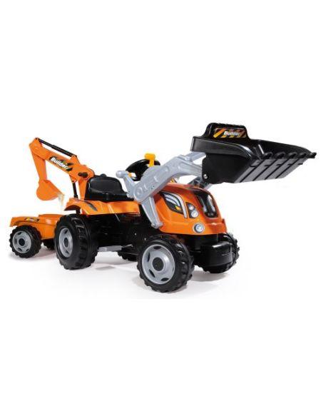 Tracteur Smoby Builder Max avec remorque