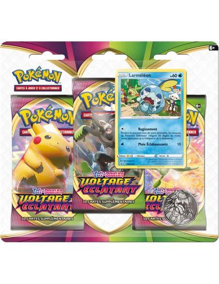 Pack 3 boosters Pokémon Epée et Bouclier 4 Modèle aléatoire