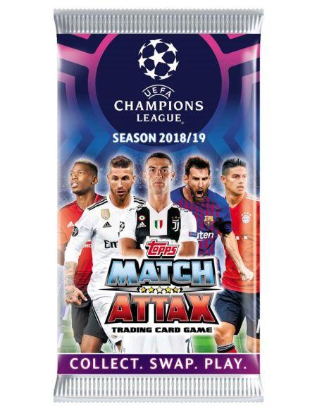 Lot de 5 boosters de 6 cartes Topps Ligue des Champions 2018-2019