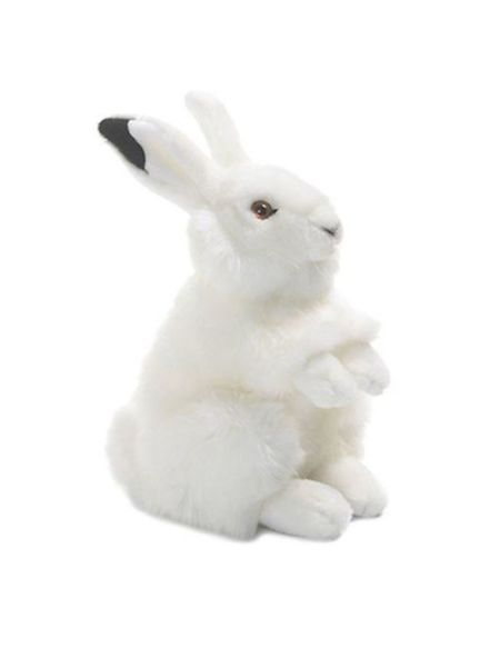 Animal en peluche Wwf Lapin des neiges 24 cm