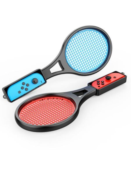 Paire de Raquettes de Tennis Two Dotes pour Manette Nintendo Switch