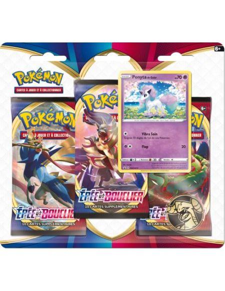 Pack 3 booster Pokémon Épée et Bouclier 1 Modèle aléatoire