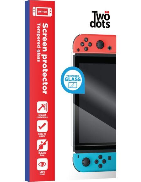 Protection d'écran en verre trempé Two Dots Transparent pour Nintendo Switch