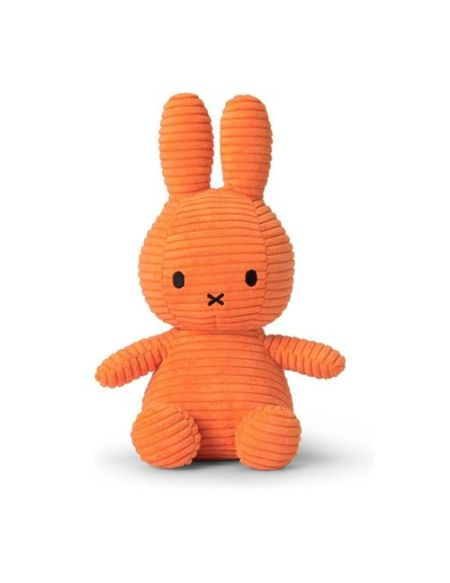Peluche Miffy lapin velours côtelé 24 cm Orange