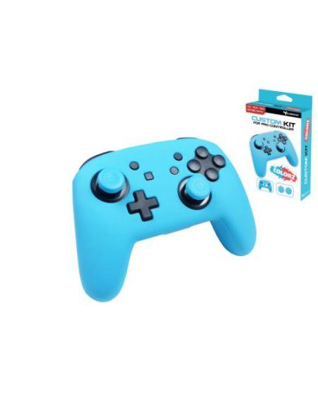 Kit de protection Subsonic Bleu Néon pour manette Nintendo Switch Pro