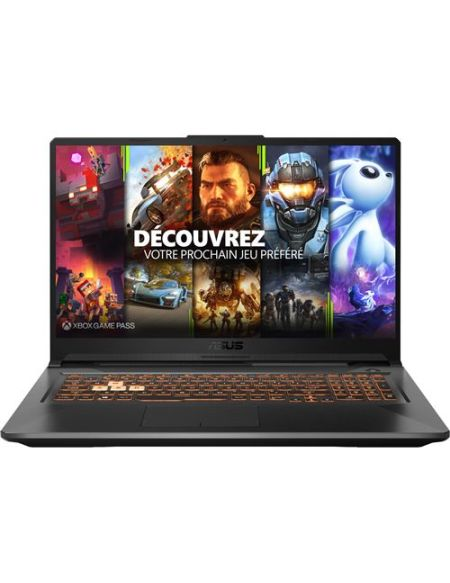 "PC Portable Gaming Asus TUF706IU-H7302T 17.3"" AMD Ryzen 7 16 Go RAM 256 Go SSD + 1 To SATA Noir"