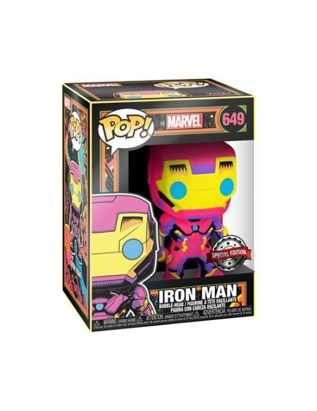 Figurine Funko Pop Marvel Black Light Iron Man Exclusivité Fnac