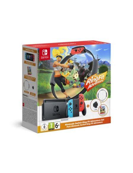 Pack Nintendo Switch Ring Fit Adventure Edition Limitée Rouge et Bleu Néon