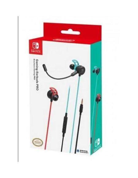 Ecouteurs Gaming avec fil Hori Neon Bleu et Rouge pour Nintendo Switch