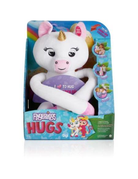 Peluche interactive Evolution Fingerlings Hugs Licorn Blanche Gigi