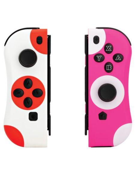 Pack de 2 Manettes Under Control Ii-Con Rouge et Rose pour Nintendo Switch
