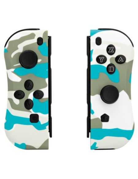 Pack de 2 Manettes Under Control Ii-Con Camouflage Blanc pour Nintendo Switch