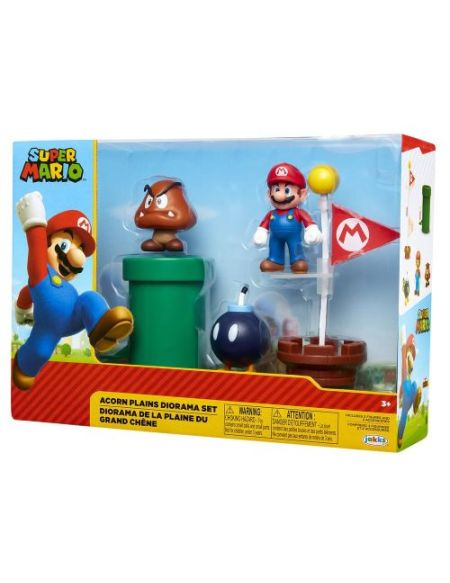 Diorama de 5 figurines Nintendo Mario Acorn Plains